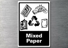 Recycling Mixed paper sticker 7yr vinyl commercial office industrial