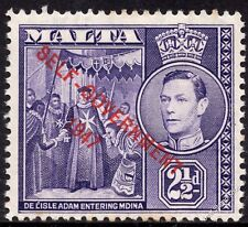 Malta 1948 2½d Dull-Violet Definitive SG 239 Unmounted Mint