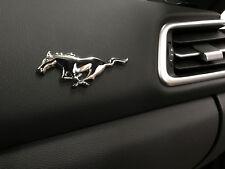 "1 x 3D ""RUNNING HORSE"" PONY Chrome Metal Dashboard Emblem Logo Badge Sticker"