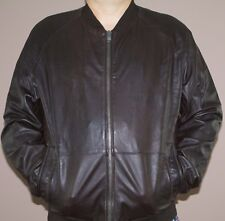 Tommy Hilfiger Men Lambskin Leather Jacket Brown XL New...
