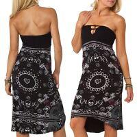 Metal Mulisha Ever After Strapless Ladies Dress – Black Size S
