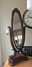 Edwardian Style Dressing Table or Floor Mirror Oval Shape Free Standing Swivel
