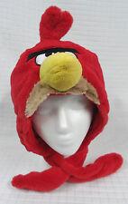 ANGRY BIRDS Red FURRY Bird HAT Plush BEAK Earmuffs/SCARF Wrap YOUTH Commonwealth
