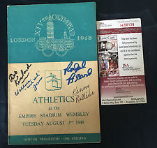1948 Kentucky & Olympic Basketball Signed Program JSA NCAA & Olympic Champs