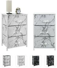 Nightstand Chest with 3 Drawers - Dresser Storage Organizer for Bedroom & Office