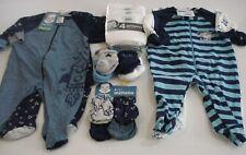 Gerber New Baby Boy's 16 Piece Baby Shower Gift Set Super Cute