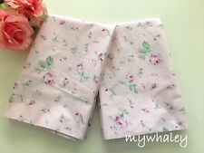 NEW SET2 RACHEL ASHWELL Simply Shabby Chic PiNK Antique Garden Roses PILLOWCASES