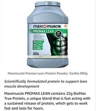 Maximuscle Promax Lean Protein Powder to Build Muscle Vanilla  990g LOW FAT NEW