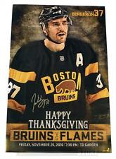 Patrice Bergeron Boston Bruins Signed Autographed 2016 Game Day Roster Poster