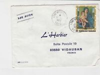 republique togolaise 1973 virgin mary airmail stamps cover ref 20487