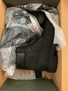 Timberland Juniors 6-Inch Premium Black Waterproof Boots Size 5M Style 12907 EUC