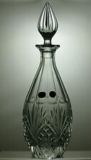 VINTAGE BOHEMIA CRYSTAL CUT GLASS DECANTER WITH ORIGINAL BOX