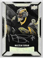 15/16 UD Black #59 Malcolm Subban On Card Autograph RC #187/299