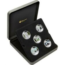 Tuvalu 2011 - 5 x $1 - Heroes & Villains - 5 x 1 Oz Silver Proof Coin Set