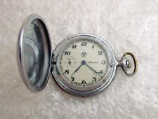 Molnija Vintage 1980's Ussr Soviet Art Deco Men's Pocket Watch Molnia - Serviced