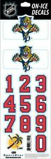 FLORIDA PANTHERS NHL LICENSED ON-ICE RED HELMET DECALS