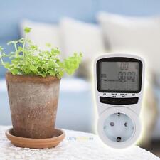 LCD Digital Power Meter Energy Electricity Usage Watt Amps Calculator Monitor EU