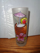 Topsail Island NC - Pina Colada - Frosted Drink - Cocktail Recipe Glass