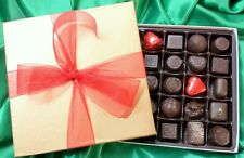 VEGAN 25-Piece Gold Gift Box of Belgian Dark Chocolate - FOR VALENTINE'S DAY!