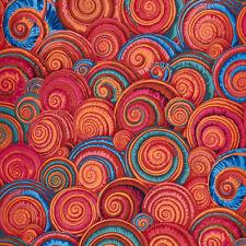 Fat Quarter Kaffe Fassett Spiral Shells ORANGE - Rowan Cotton Quilting Fabrics