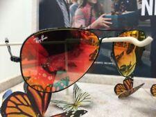 Occhiali da sole da uomo Aviator con lenti in rosso 100% UVA & UVB