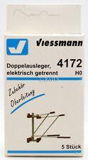 VIESSMANN HO GAUGE 4172 PACK OF 5 DOUBLE INSULATORS / CATENARY ARMS (U21)
