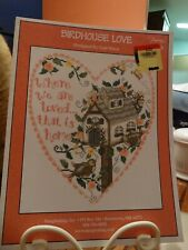 """Counted Cross Stitch Pattern  """"Birdhouse Love""""  NEW"""