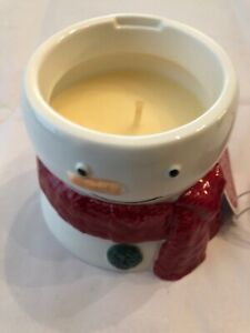 Yankee Candle Christmas Cookie Scented Candle in Ceramic Snowman Holder 8 oz NEW