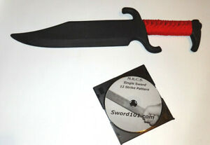 Practice Knife American Bowie Polypropylene Sword Martial Arts DVD RED Trainer