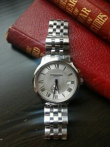 Raymond Weil Maestro Luxury Swiss Silver 39mm Wristwatch (Automatic) with box