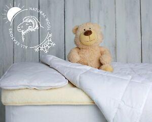 Non Allergenic Baby Cot Bed Duvet Pillow Set Wool Cotton Bedding Set Toddler Kid