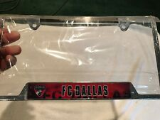 SWEET FC Dallas Soccer Metal Auto License Plate Surround, NEW&NICE!!
