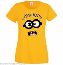lady fit woman's minion despicable me t-shirt yellow extra large XL fun casual
