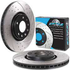 FRONT DRILLED GROOVED 308mm BRAKE DISCS FOR VAUXHALL ASTRA G H MK5 CORSA D GTC