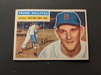 1956 Topps #71 Frank Sullivan Boston Red Sox EX White Back