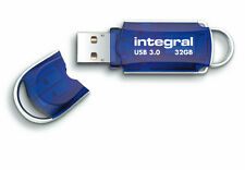 Integral Courier 32GB USB 3.0 Flash Drive Superspeed USB Pen Drive  Memory Stick