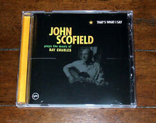 CD: John Scofield - That's What I Say the Music of Ray Charles / Jazz John Mayer