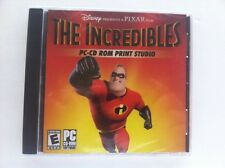 The Incredibles PC-CD ROM Print Studio PC -  Disney Pixar-Mfg. Sealed