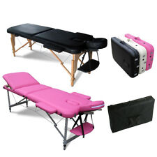 FoxHunter Portable Folding Massage Table Beauty Salon Tattoo Therapy Couch Bed