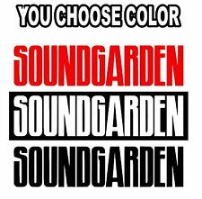 Brand New Soundgarden Decal Sticker For Truck Car Window Bumper RV Offroad S5177