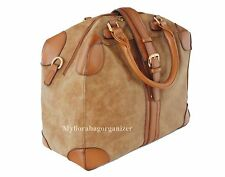 NEW Weekender Duffle Holiday Overnight Cabin Handbag, High Quality, Tan Brown