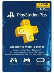 Sony PlayStation PS Plus 12-Month / 1 Year Membership Subscription READ DSCR