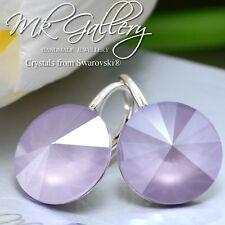 925 Silver Earrings * Lilac * Rivoli 14mm Crystals from Swarovski®
