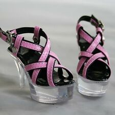 [wamami] 52# Pink&Black 1/3 SD DZ BJD Dollfie High Heels Synthetic Leather Shoes