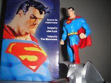 DC DIRECT SUPERMAN Mini-STATUE By JIM LEE MIB!! Maquette Batman JUSTICE LEAGUE