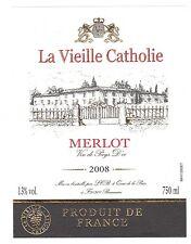 Etiquette de vin - MERLOT - La Vieille Cathalie - 2008