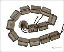 14 Smoky Quartz Triangle Tube Faceted Beads 14mm #78252