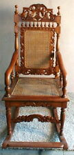 Rocking Chair Handmade Indonesia Antique Vintage UNIQUE ART Wicker and Cane