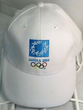 White Aohna 2004 Olympics Athens Greece Baseball Cap Hat