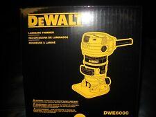 "DeWALT DWE6000 1/4"" Collet Single Speed Laminate Trimmer Cutter Electric new"